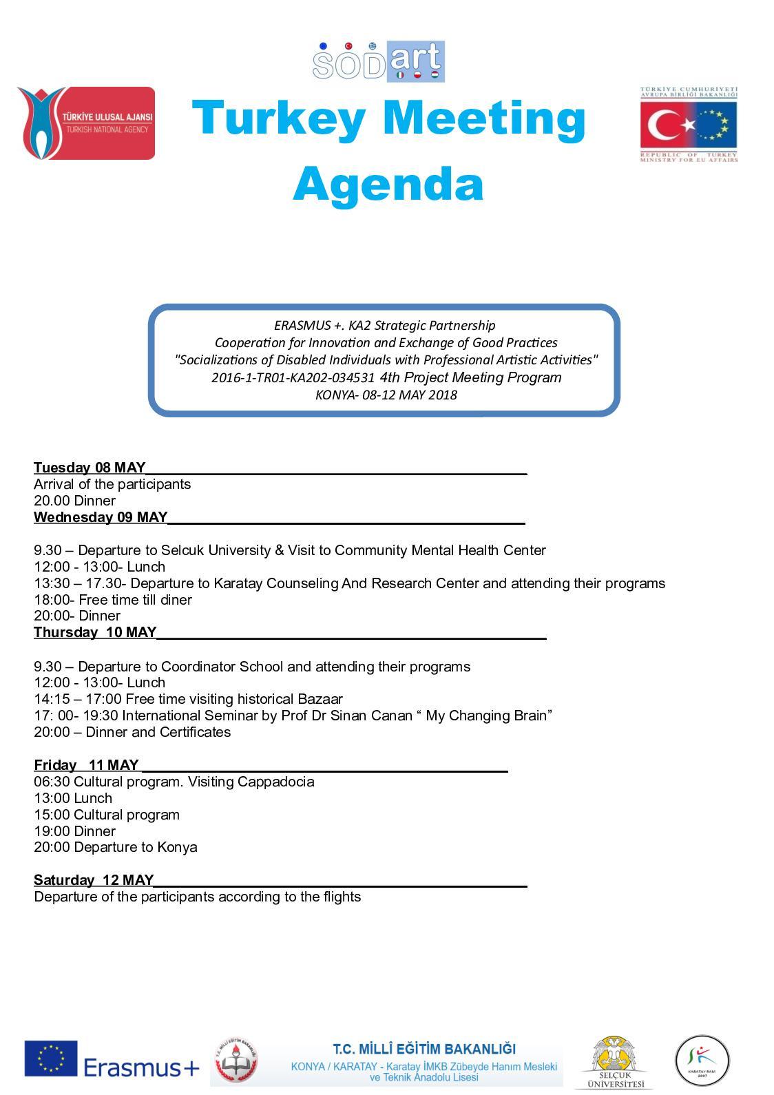 4th Meeting Turkey Program