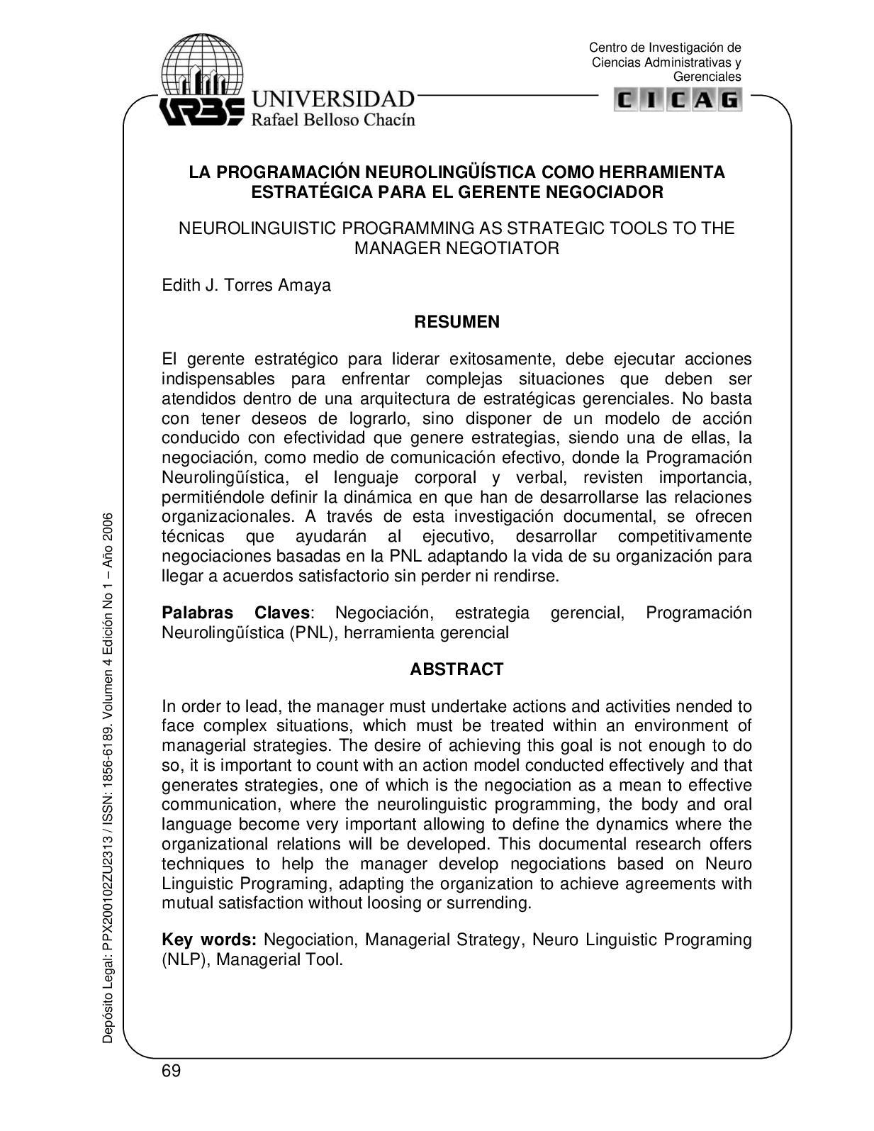 Calaméo - La Programación Neurolingüística Como Herramienta ...