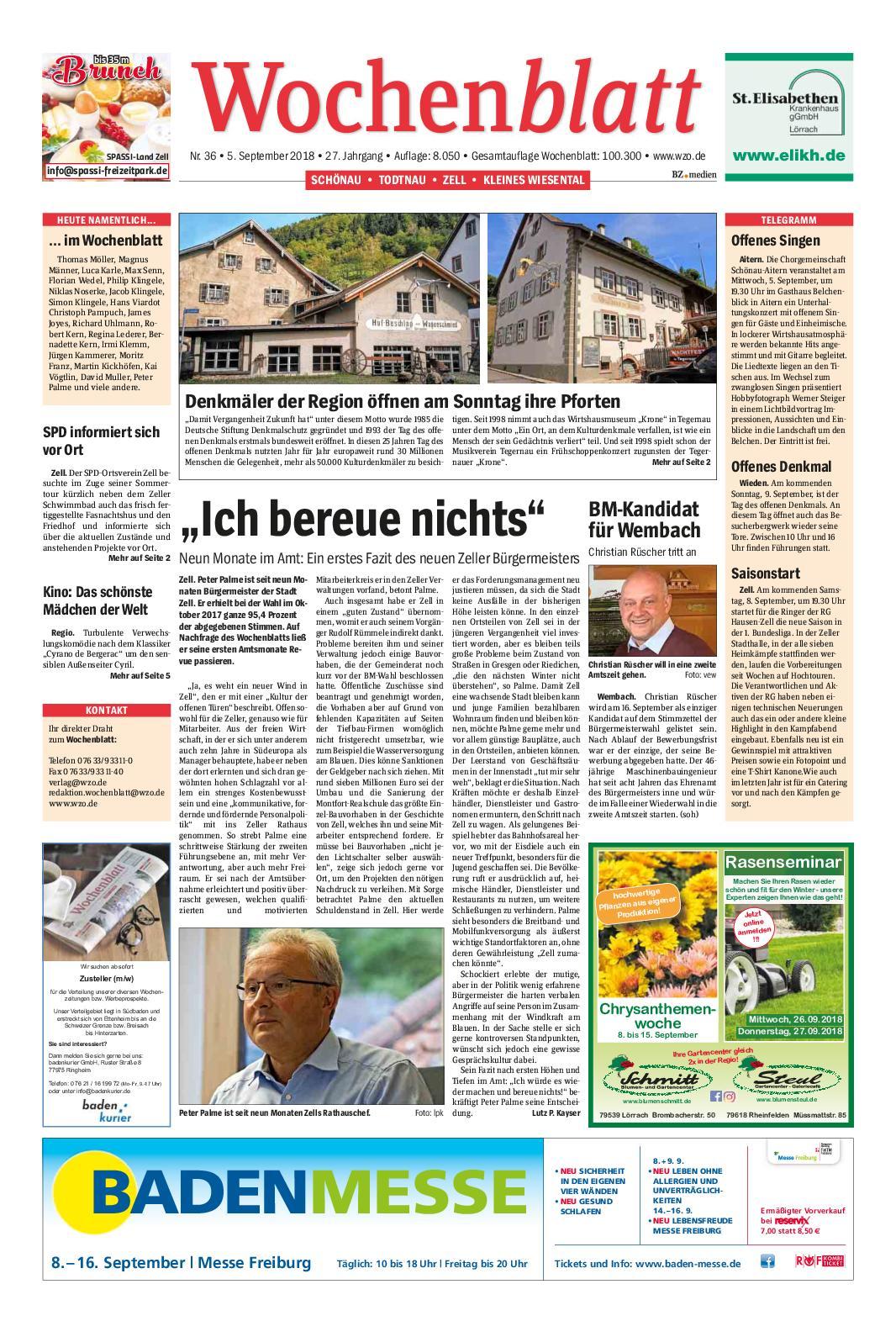 Calaméo   Wochenblatt Oberes Wiesental