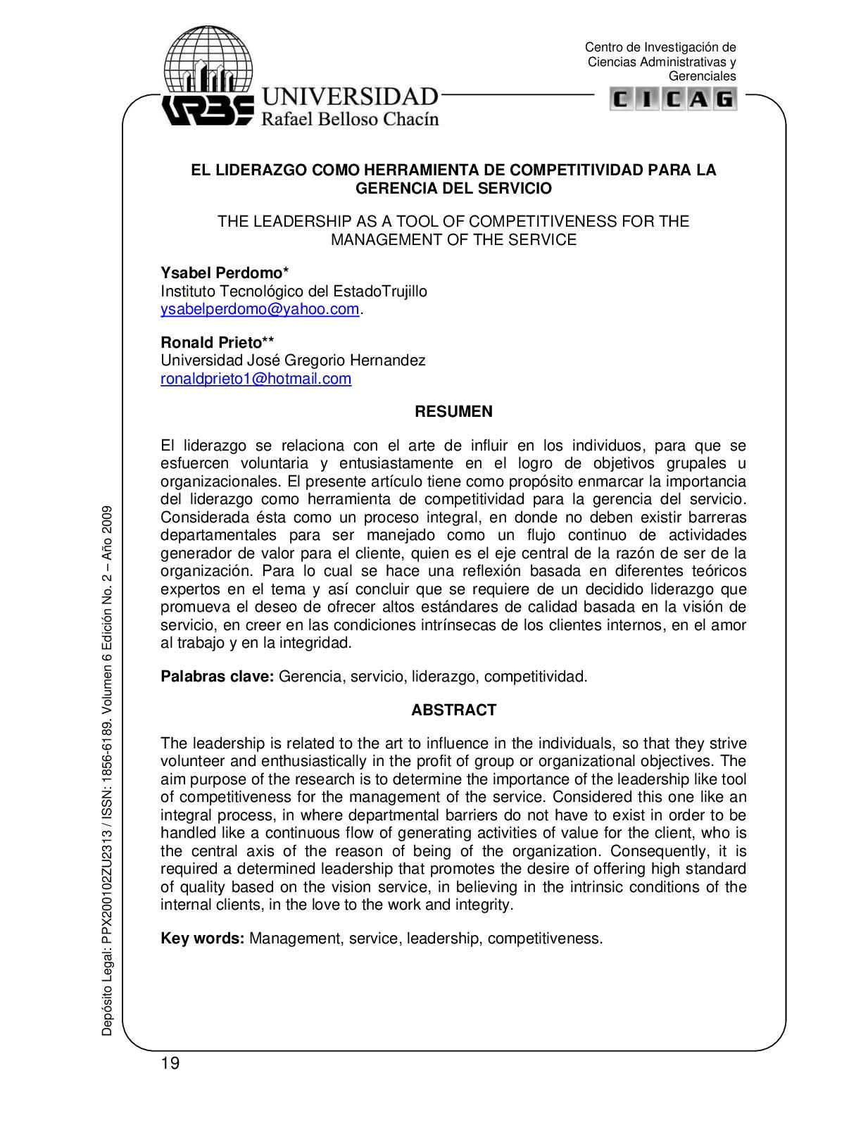 Calaméo - EL LIDERAZGO COMO HERRAMIENTA DE COMPETITIVIDAD PARA LA ...