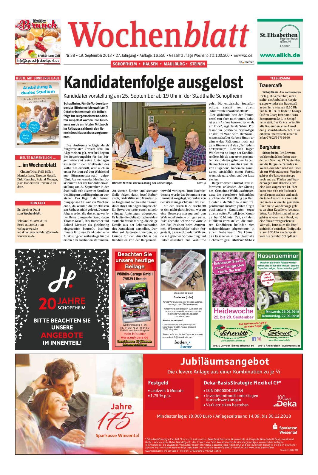 Calaméo - Wochenblatt-Schopfheim