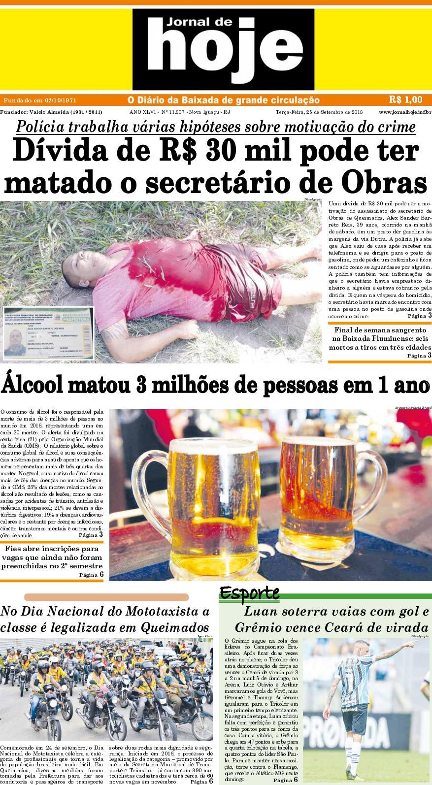 Jornal De Hoje 250918