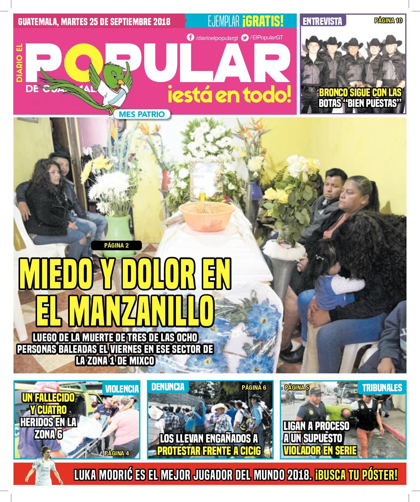 EL POPULAR GUATEMALA 25092018