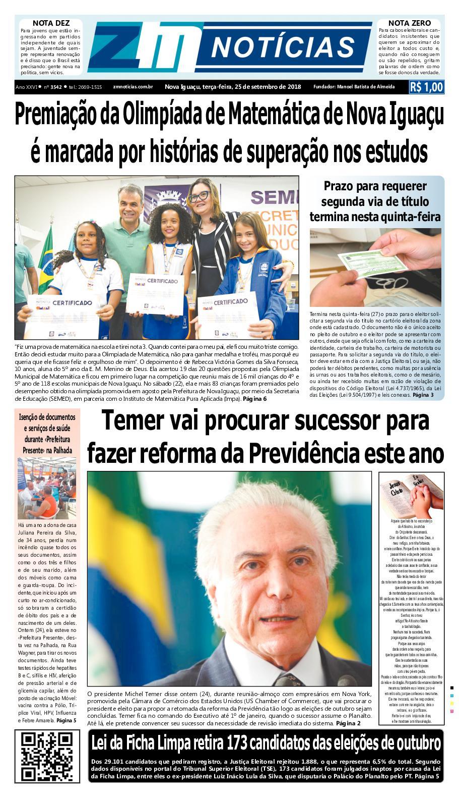 ZM Noticias - Edição 250918