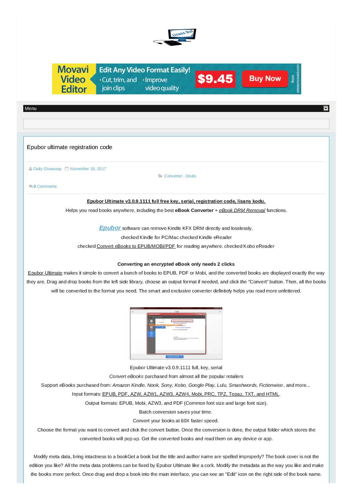 Removal drm epubor pdf