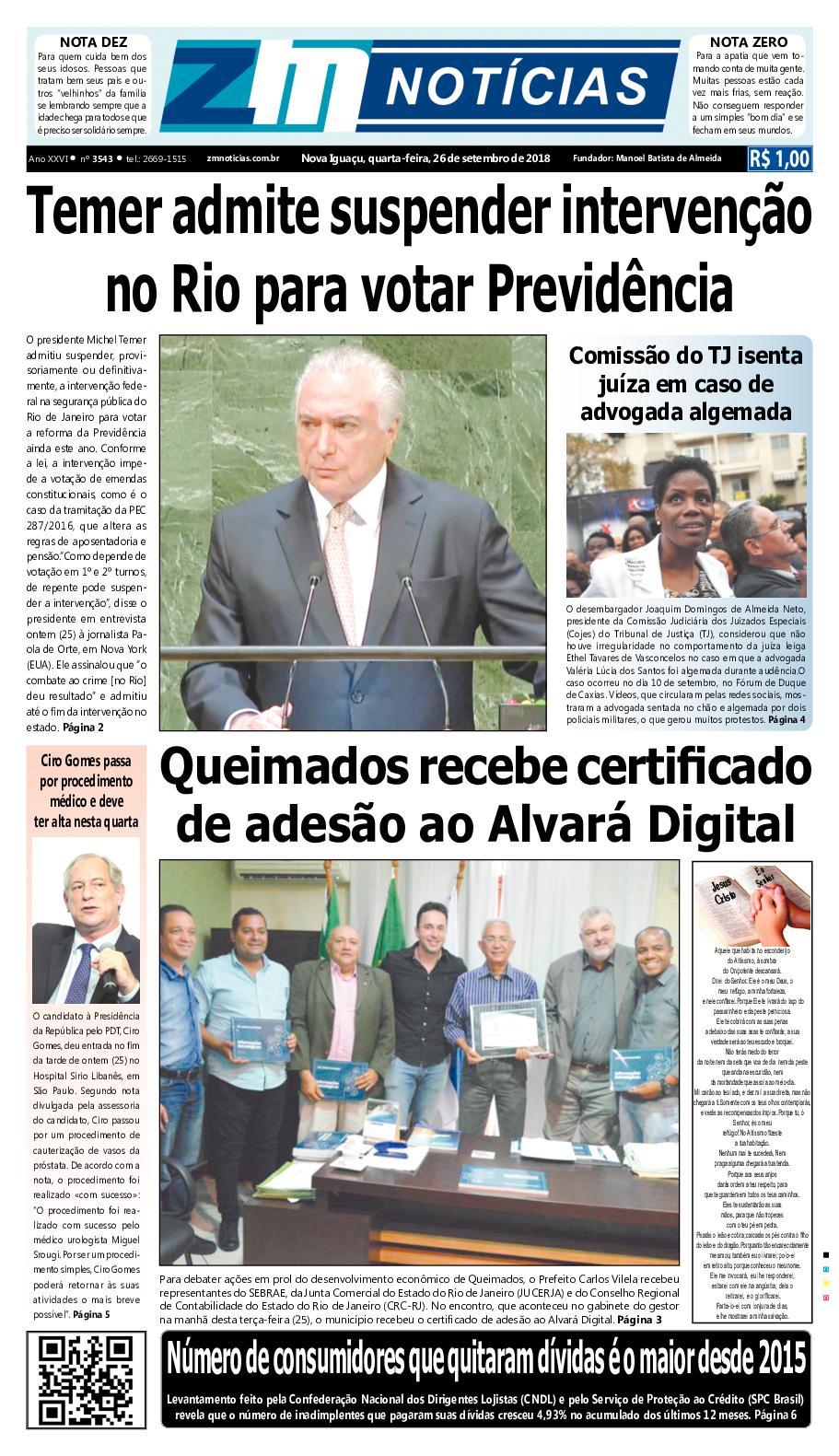 ZM Noticias - Edição 260918