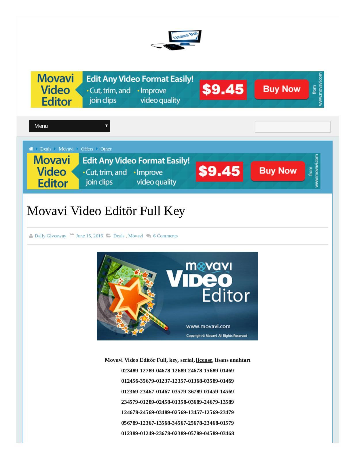 movavi slideshow maker activation key 2018