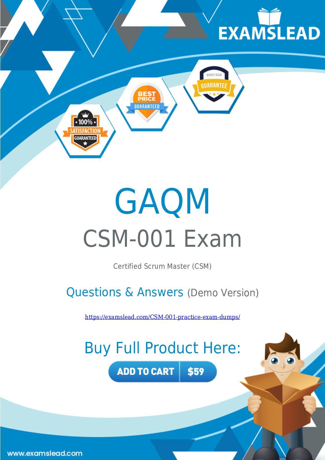 Calamo Csm 001 Exam Dumps Prepare Your Exam With Actual Csm 001