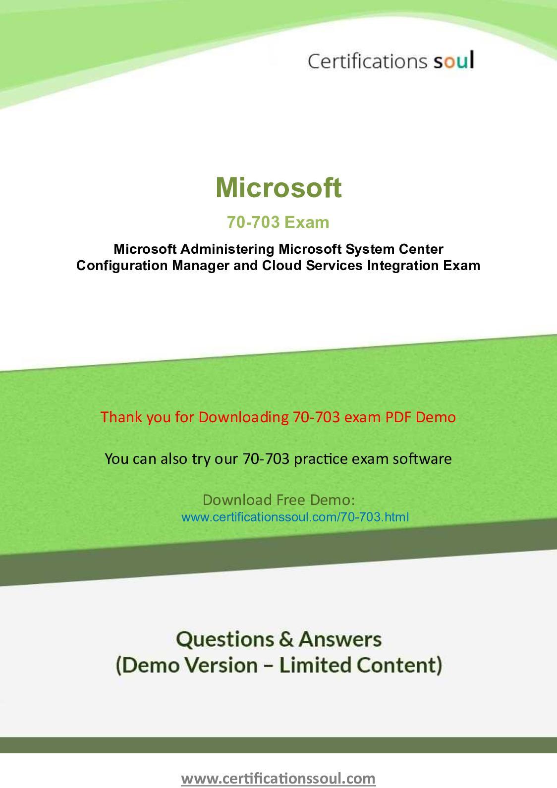 Calamo 70 703 Practice Exam Questions