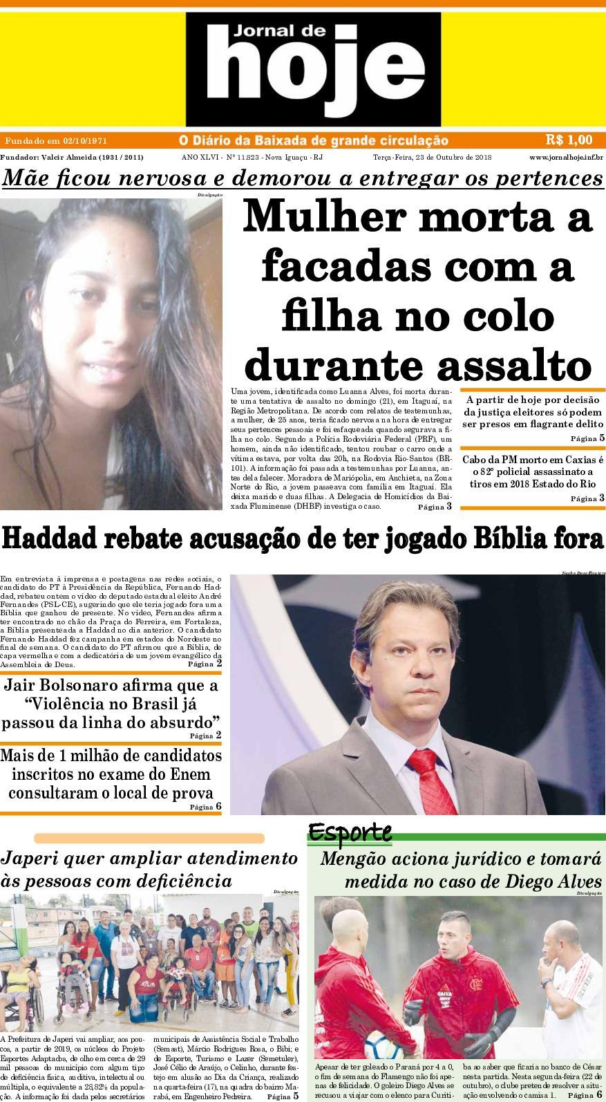 Jornal De Hoje 231018