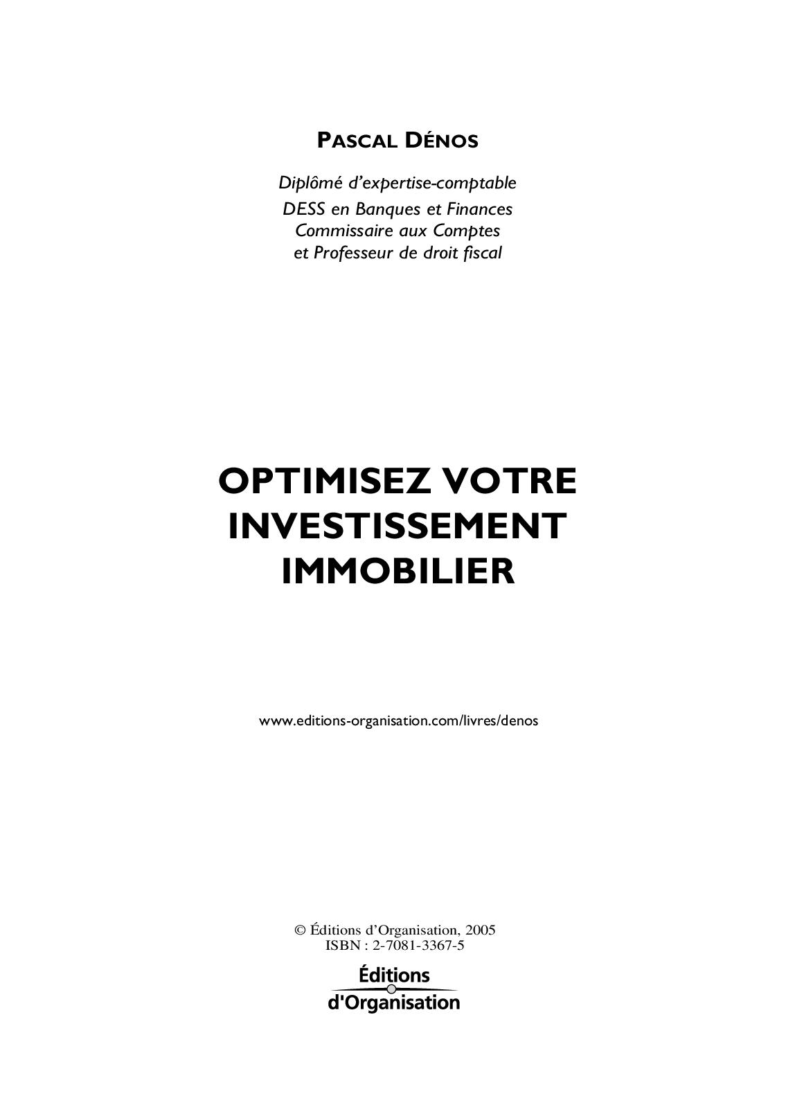investissement immobilier pdf