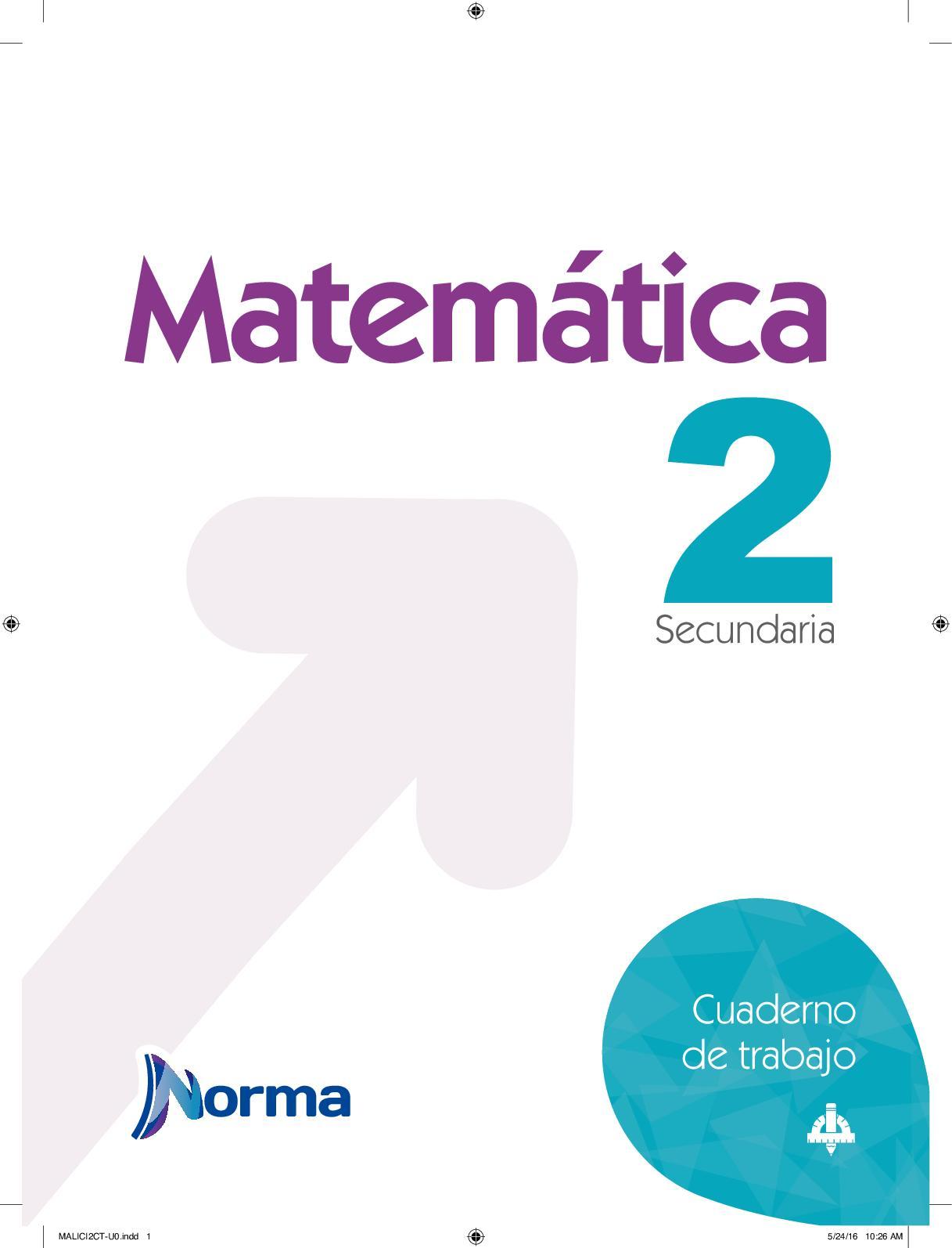 Cuaderno De Trabajo Matematica 2