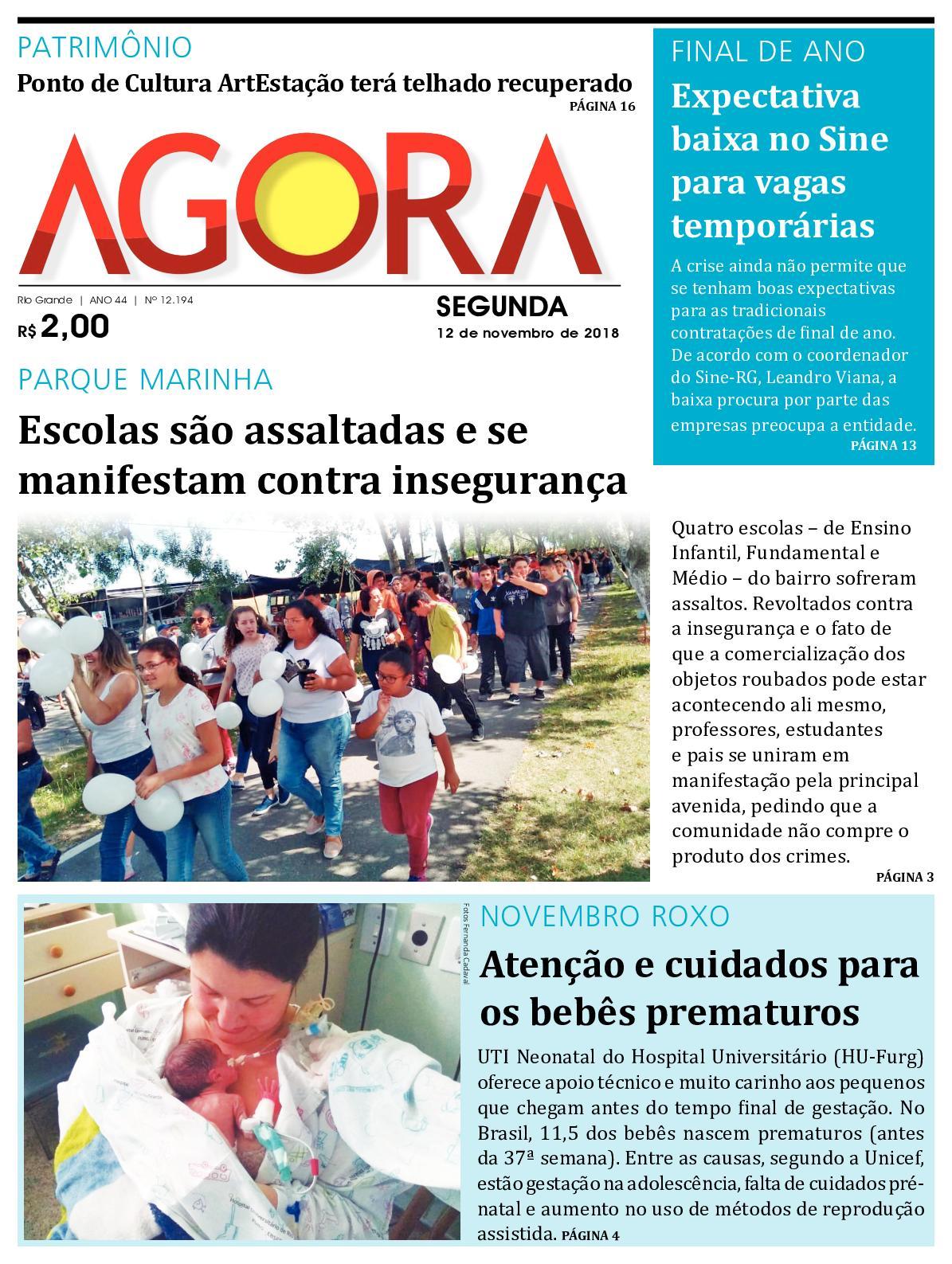 38cabebb38d Calaméo - Jornal Agora - Edição 12194 - 12 de Novembro de 2018