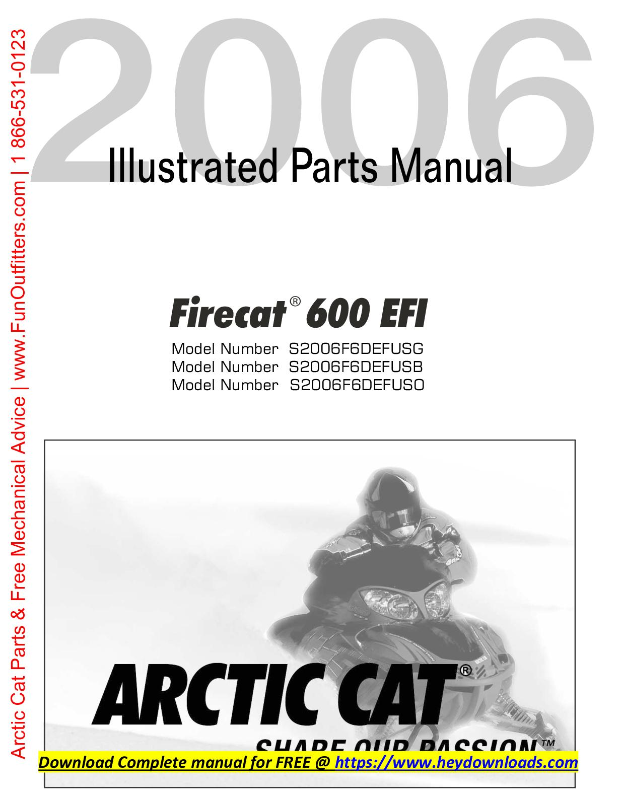 Arctic Cat Parts Diagram | Calameo Arctic Cat Snowmobile F6 Efi Parts Manual Catalog Download