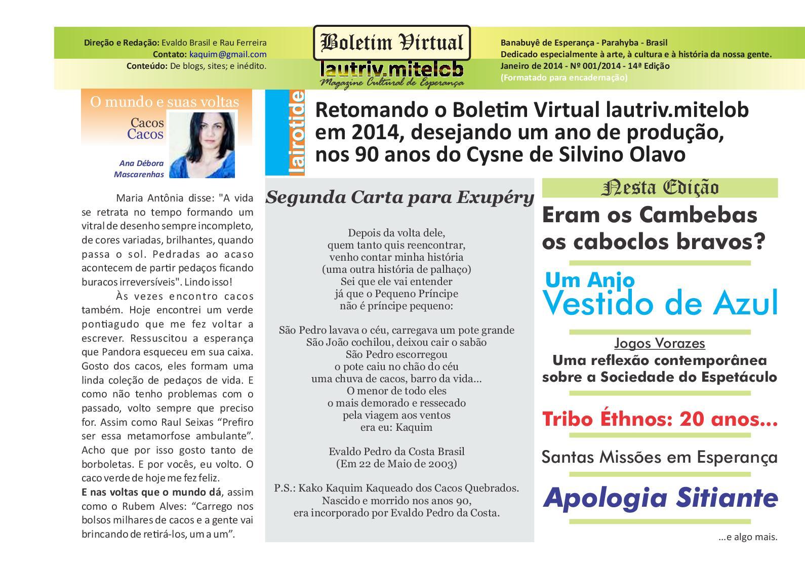fe2c337b53438 Calaméo - Boletim Virtual 2014