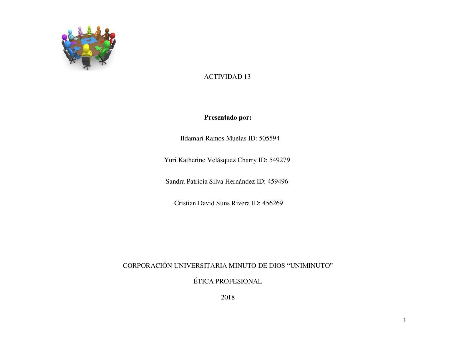 Actividad 13 ÉTica Profesional Guía N 3 Pdf