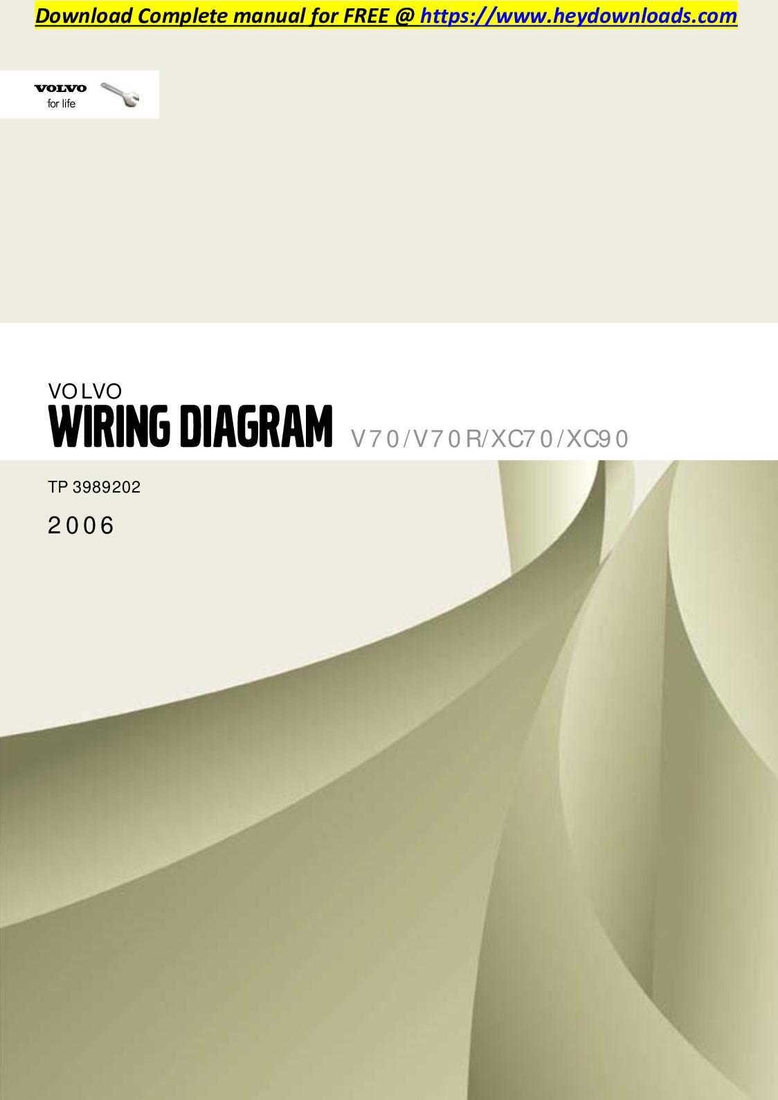 calaméo volvo xc70 2006 v70 v70r xc70 xc90 wiring diagram
