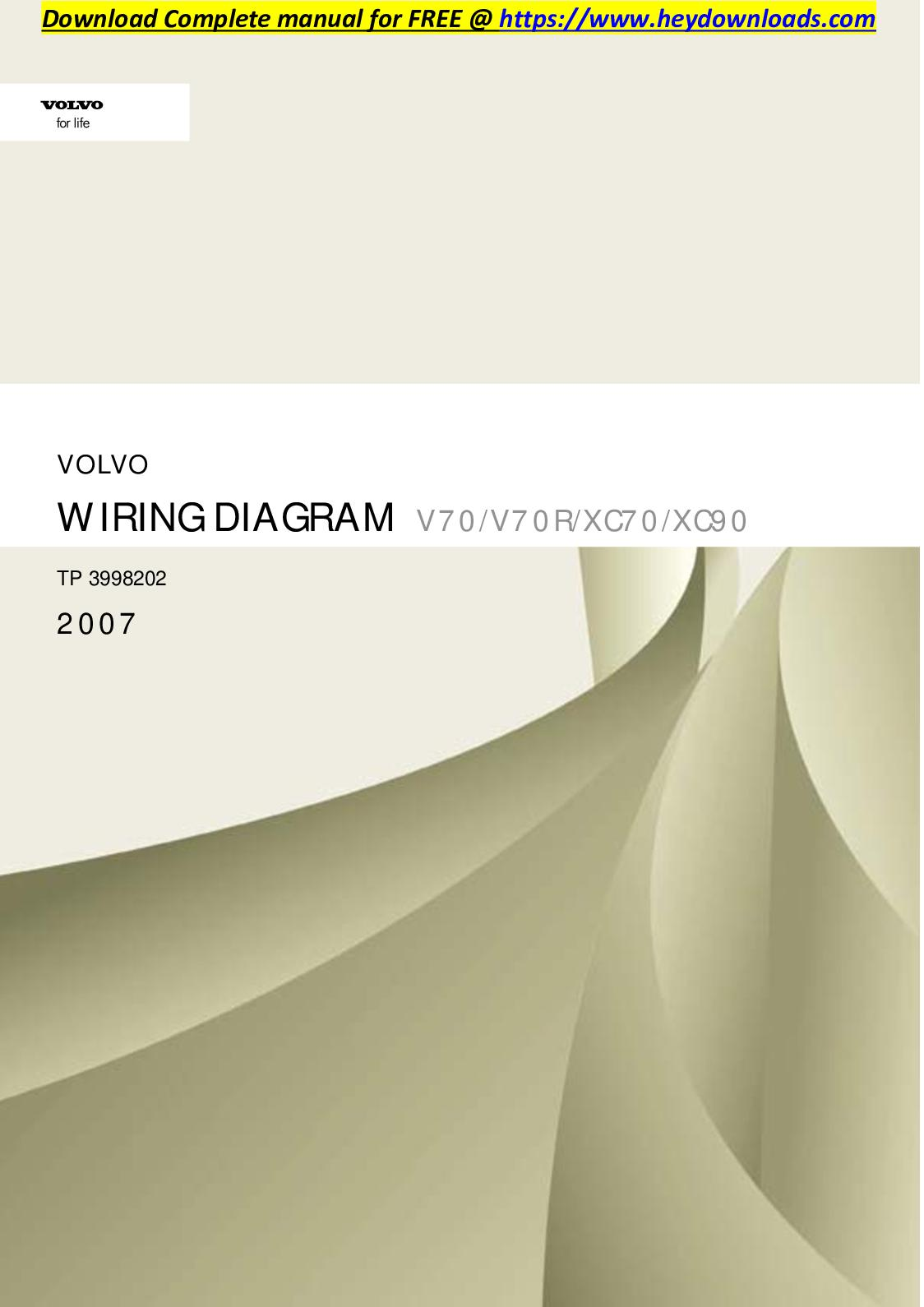 calam�o volvo xc70 2007 v70 v70r xc70 xc90 wiring diagram Volvo S80 T6 Engine Diagram