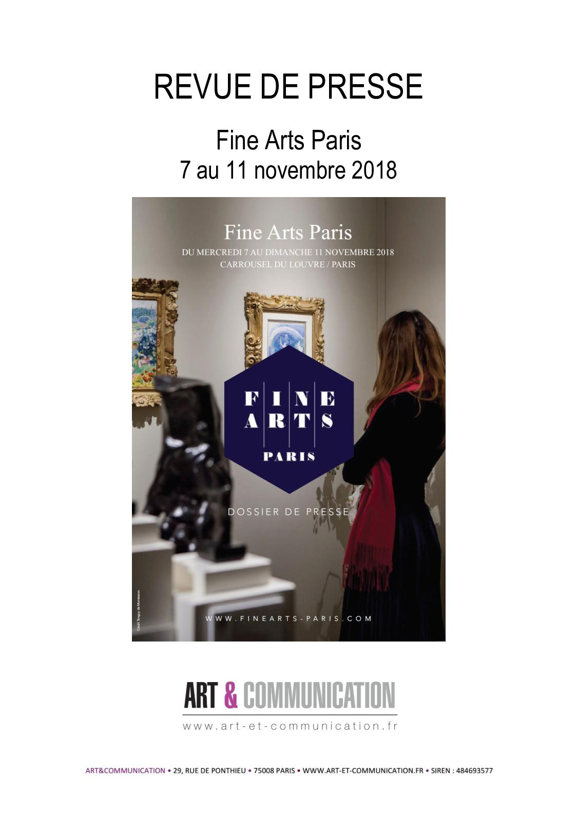 Calameo Revue De Presse Fine Arts Paris 2018