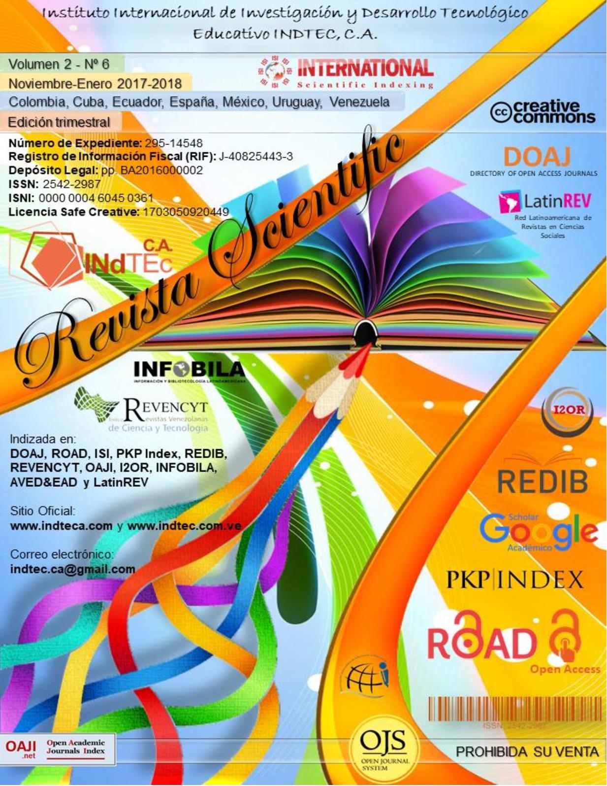 Calaméo Revista Scientific Volumen 2 Nº 6 Noviembre Enero