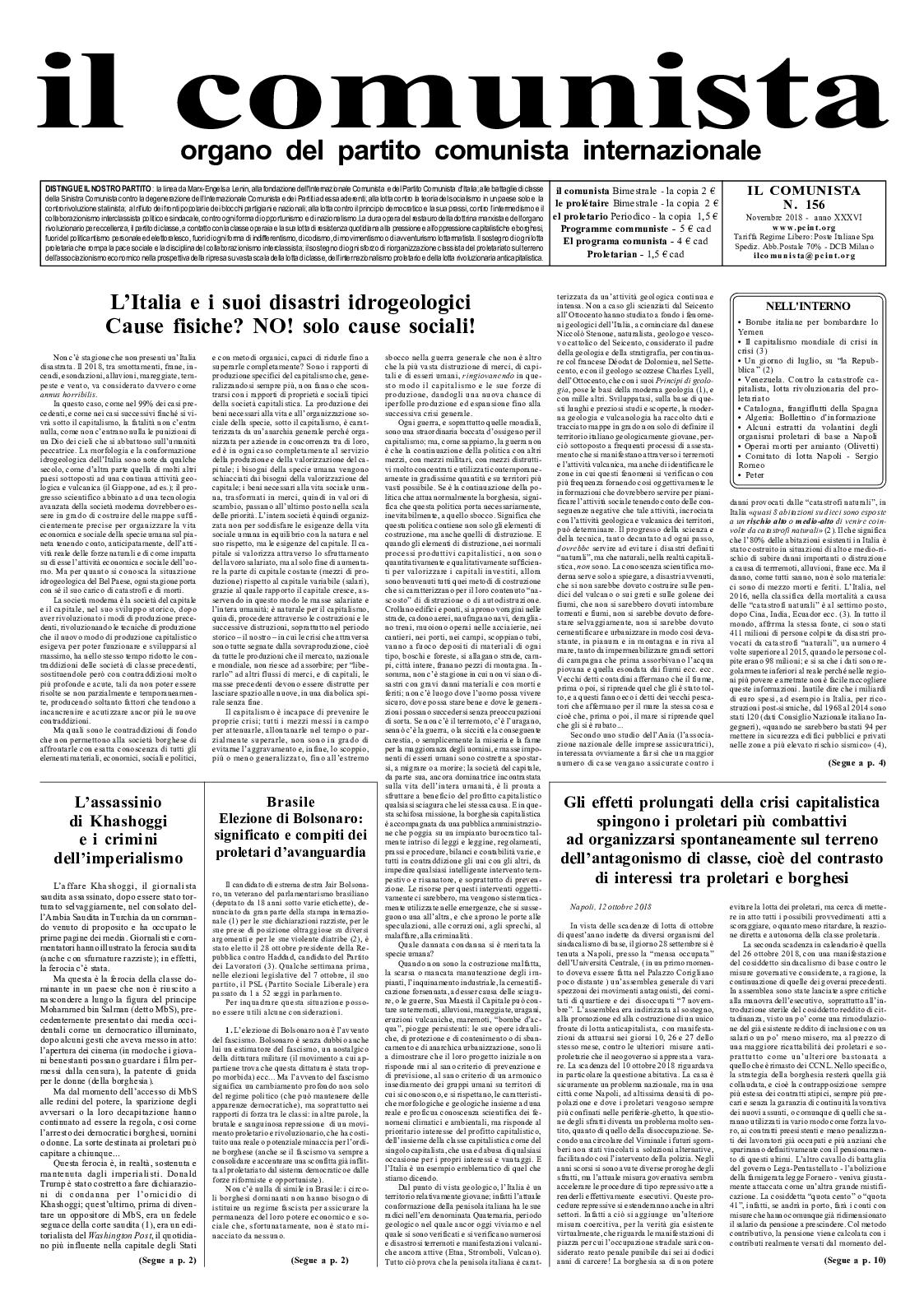 156 n° Il Calaméo 2018 Comunista novembre tPUPwx