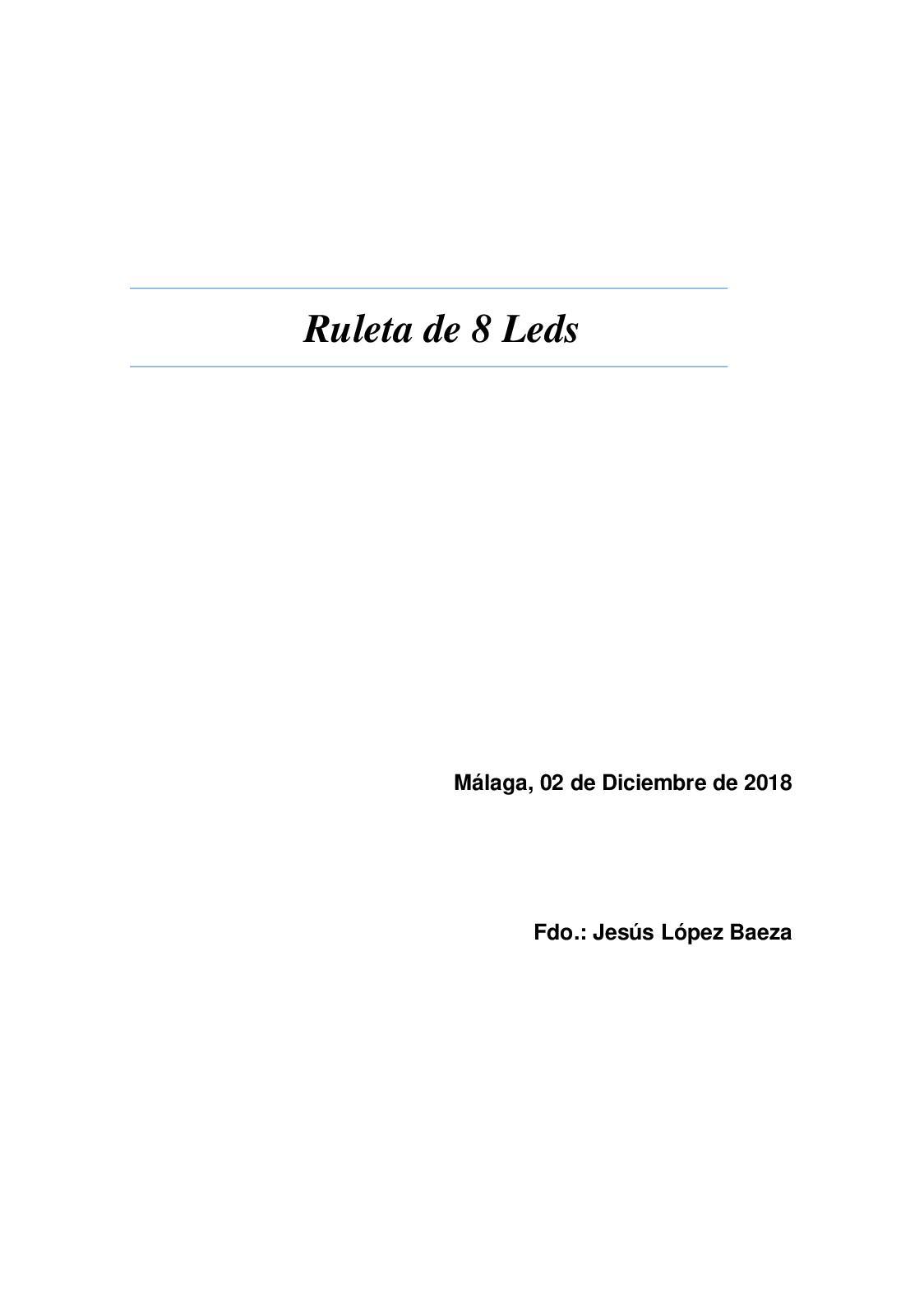Ruleta 8 Leds