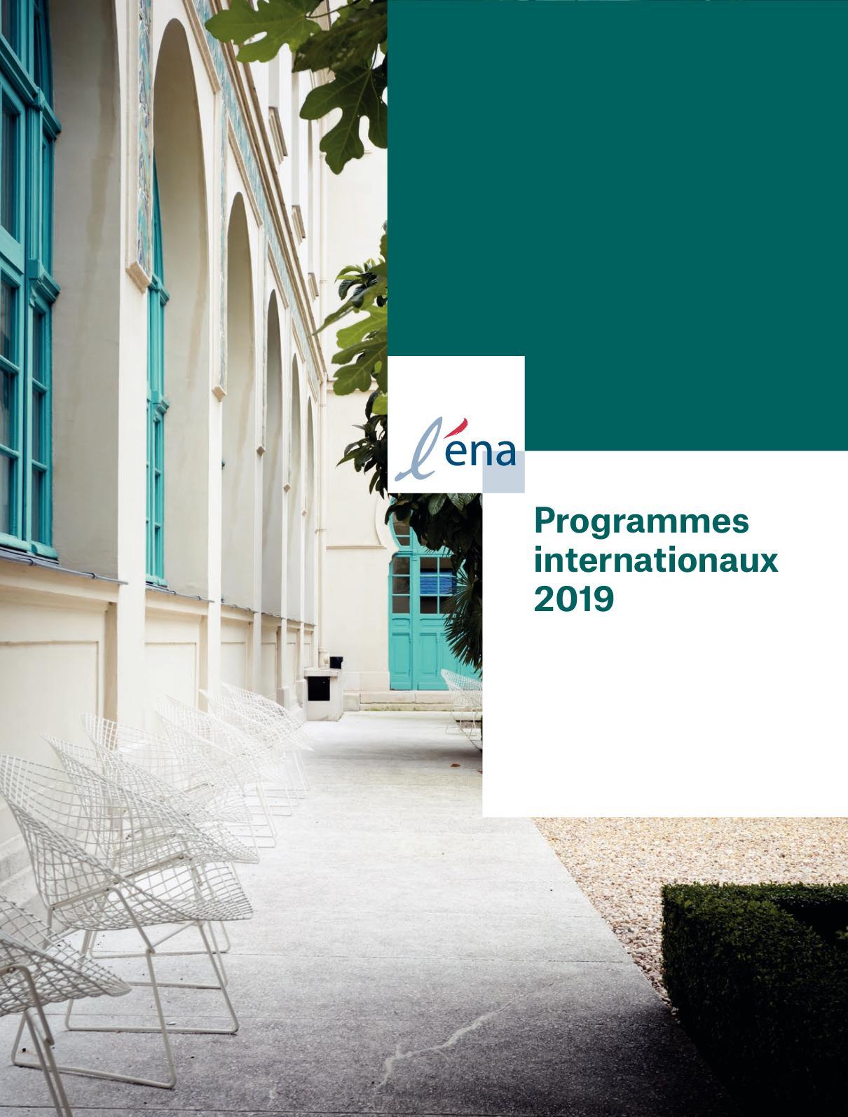 Programmes internationaux courts 2019