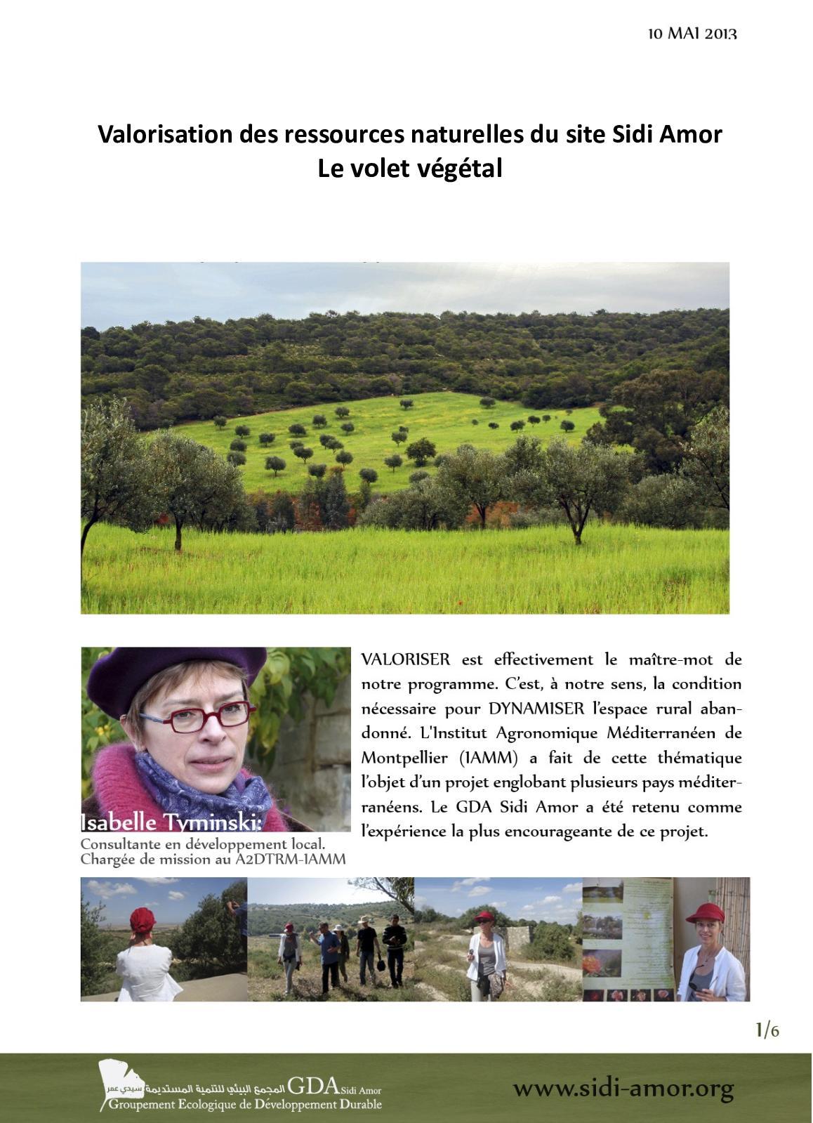 Foret / la Valorisation Des Ressources Naturelles Du Site Vegetal