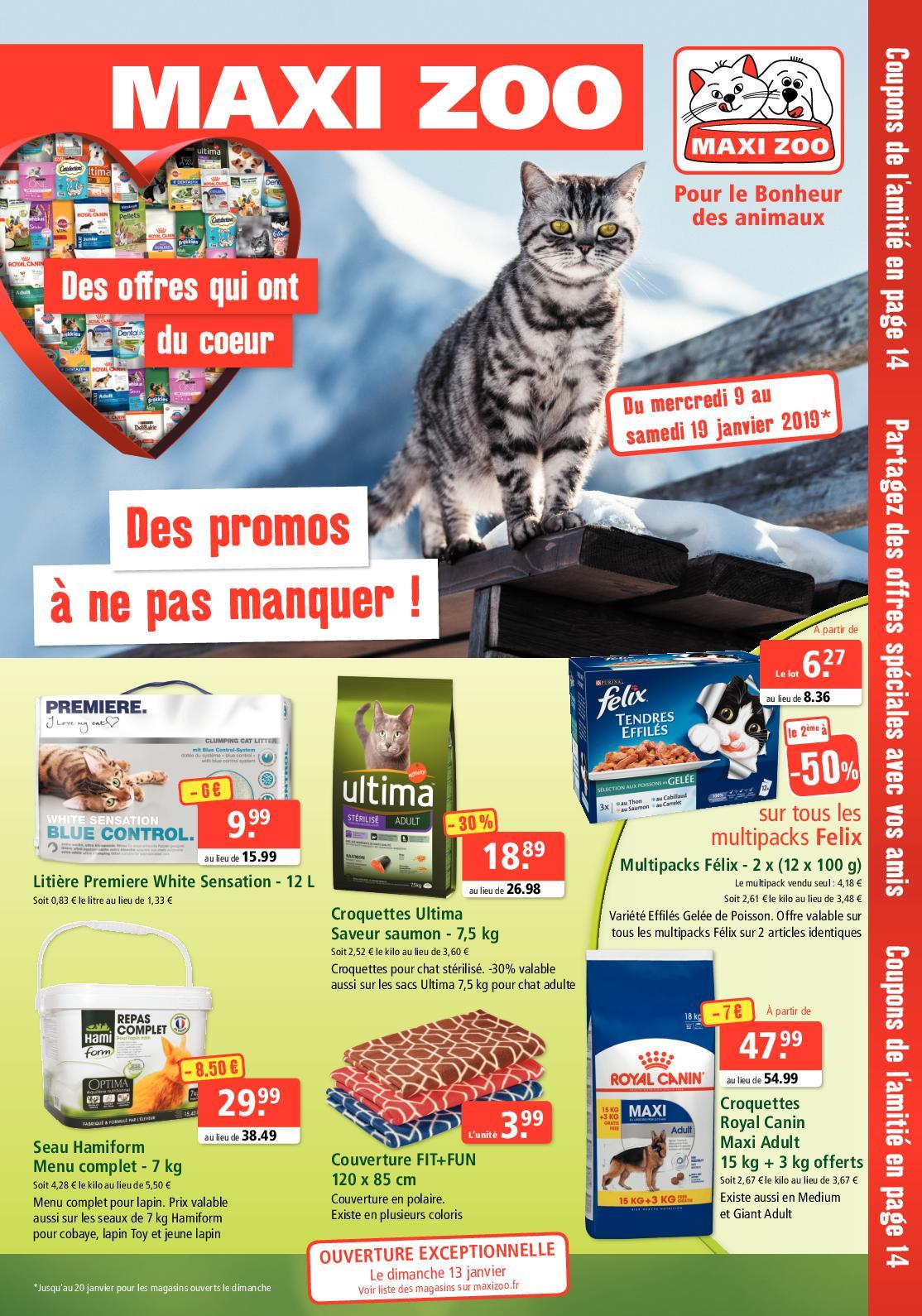 2010da9762fbde Calaméo - Promos Janvier 2019 - Maxi Zoo