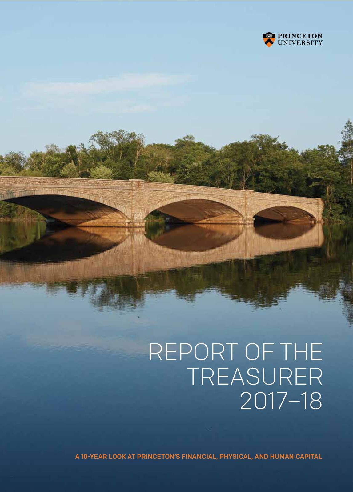 Princeton University FY18 Report of the Treasurer