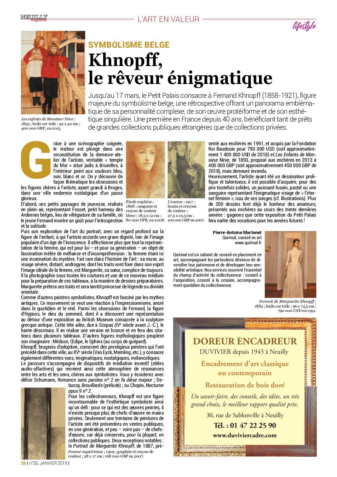 Neuilly Magazine n°28 - Janvier 2019