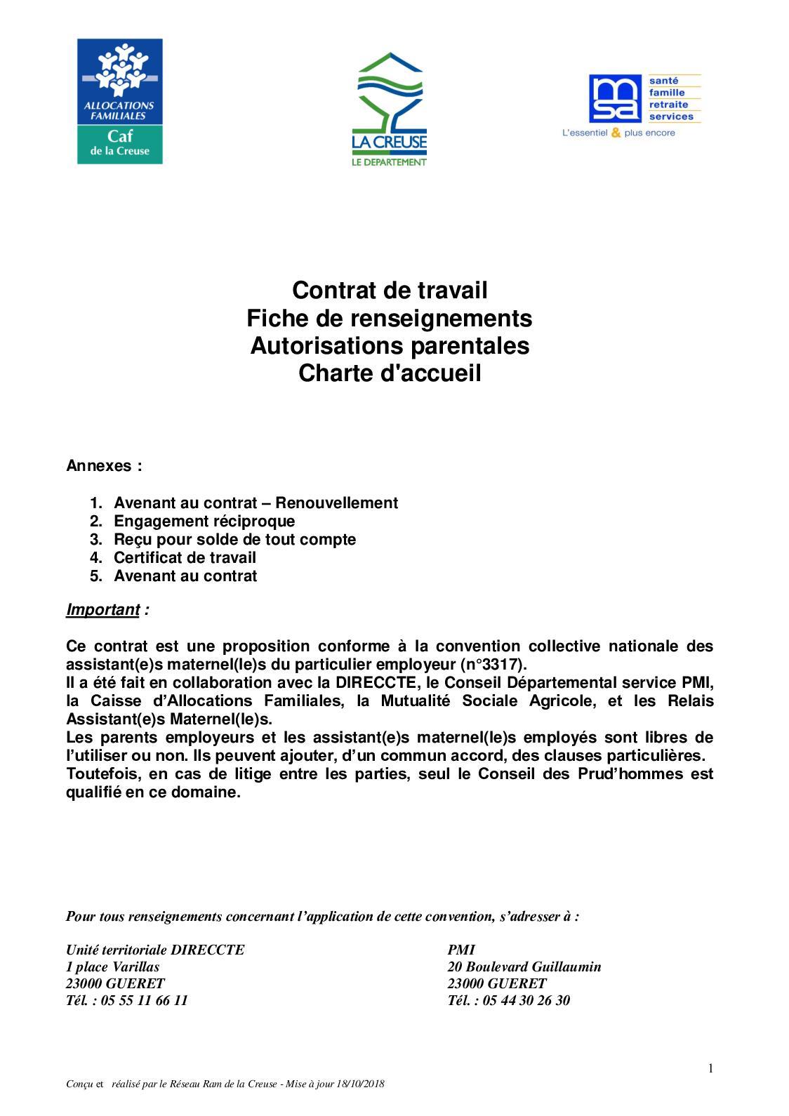 Calameo Contrat Cdd Am 10 2018
