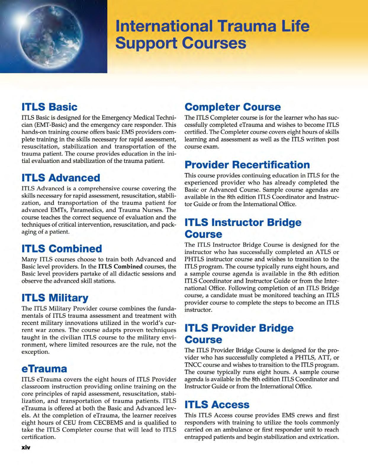 International Trauma Life Support For Emergency Care Providers 8th