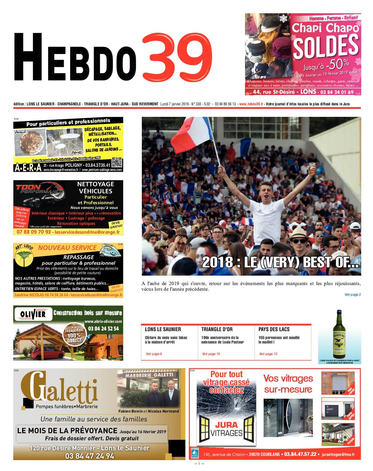 133199fa69ac Calaméo - HEBDO LONS Semaine 02 2019