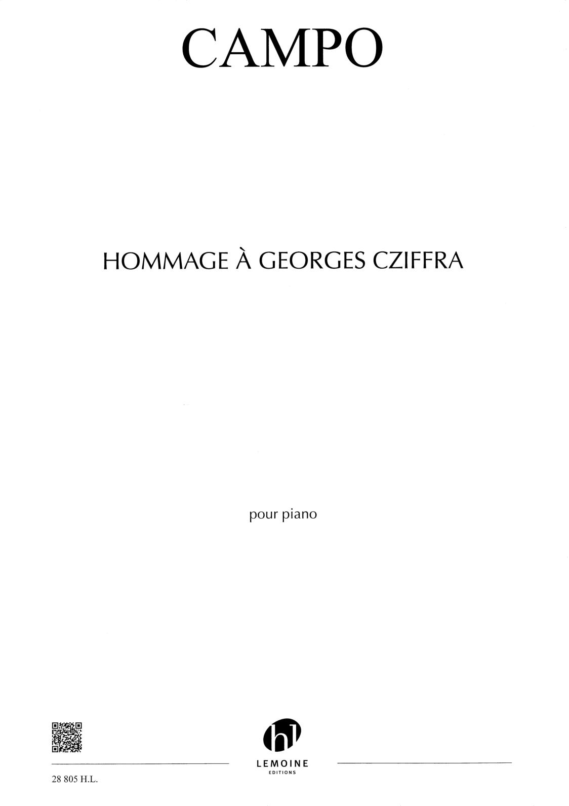 Hommage à Georges Cziffra de Régis Campo