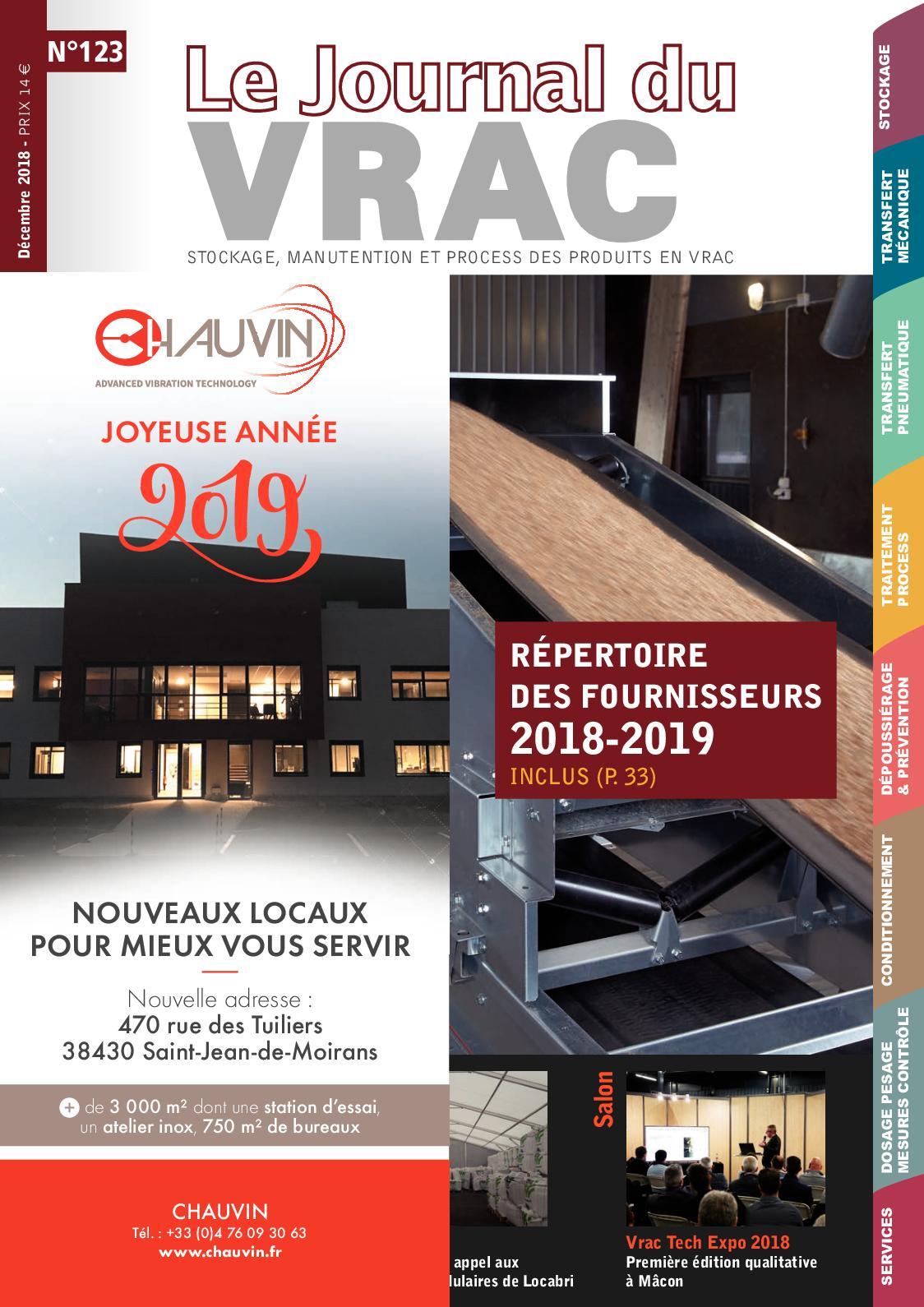 Le Journal du vrac n°123 - décembre 2018