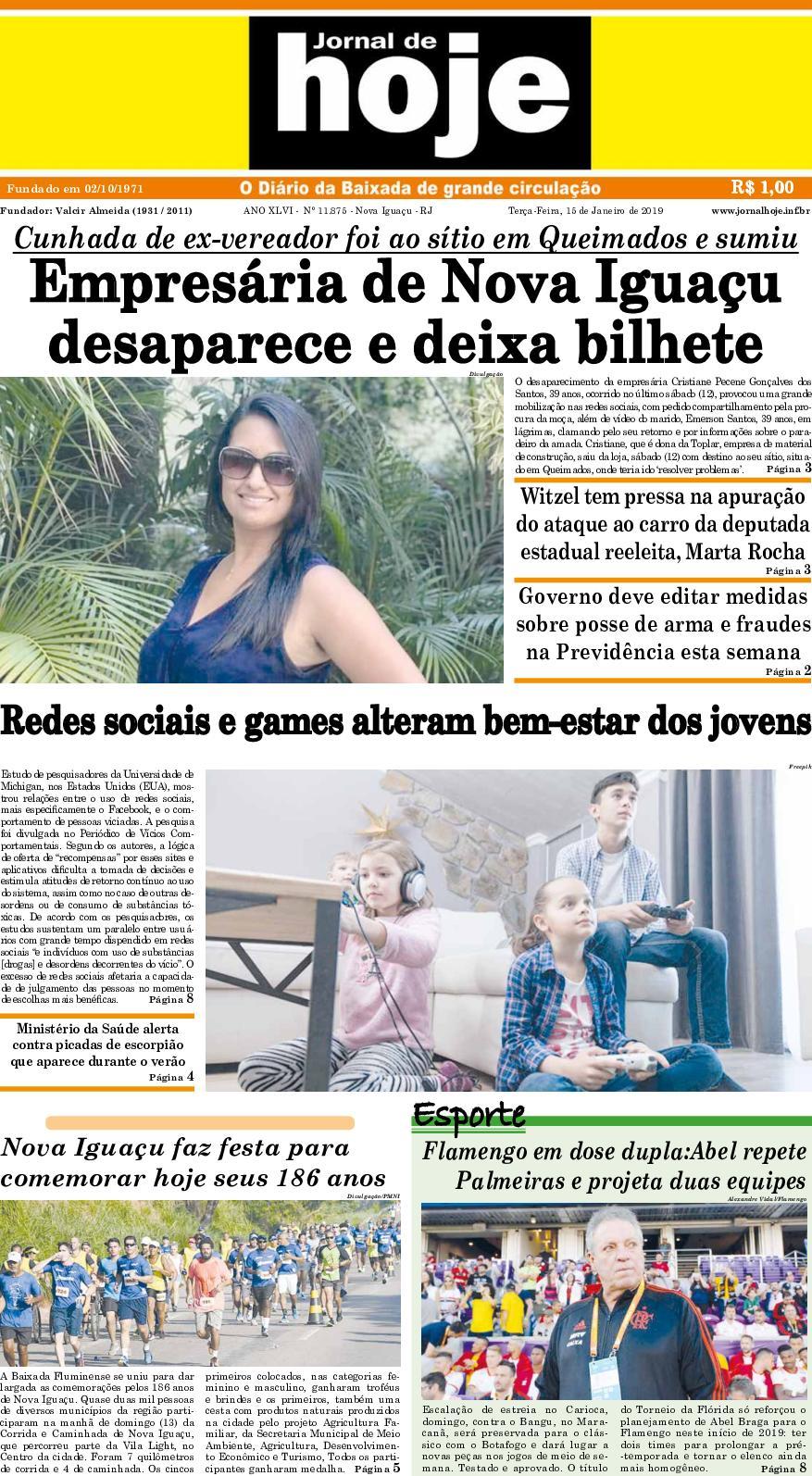 Jornal De Hoje 150119