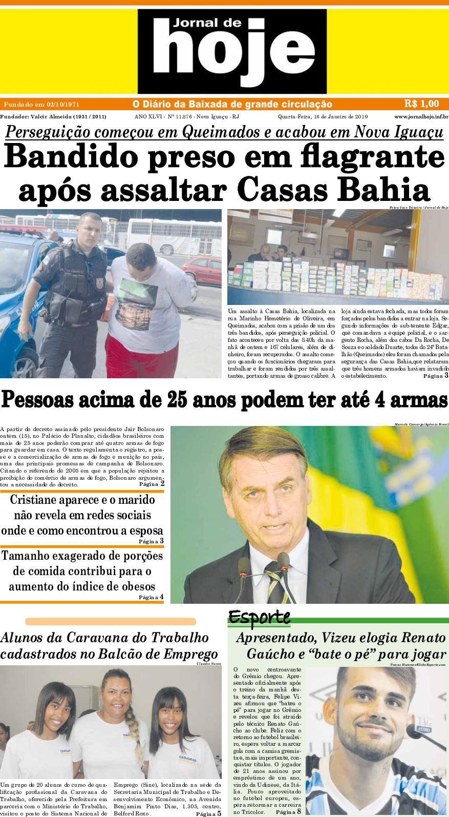 Jornal De Hoje 160119