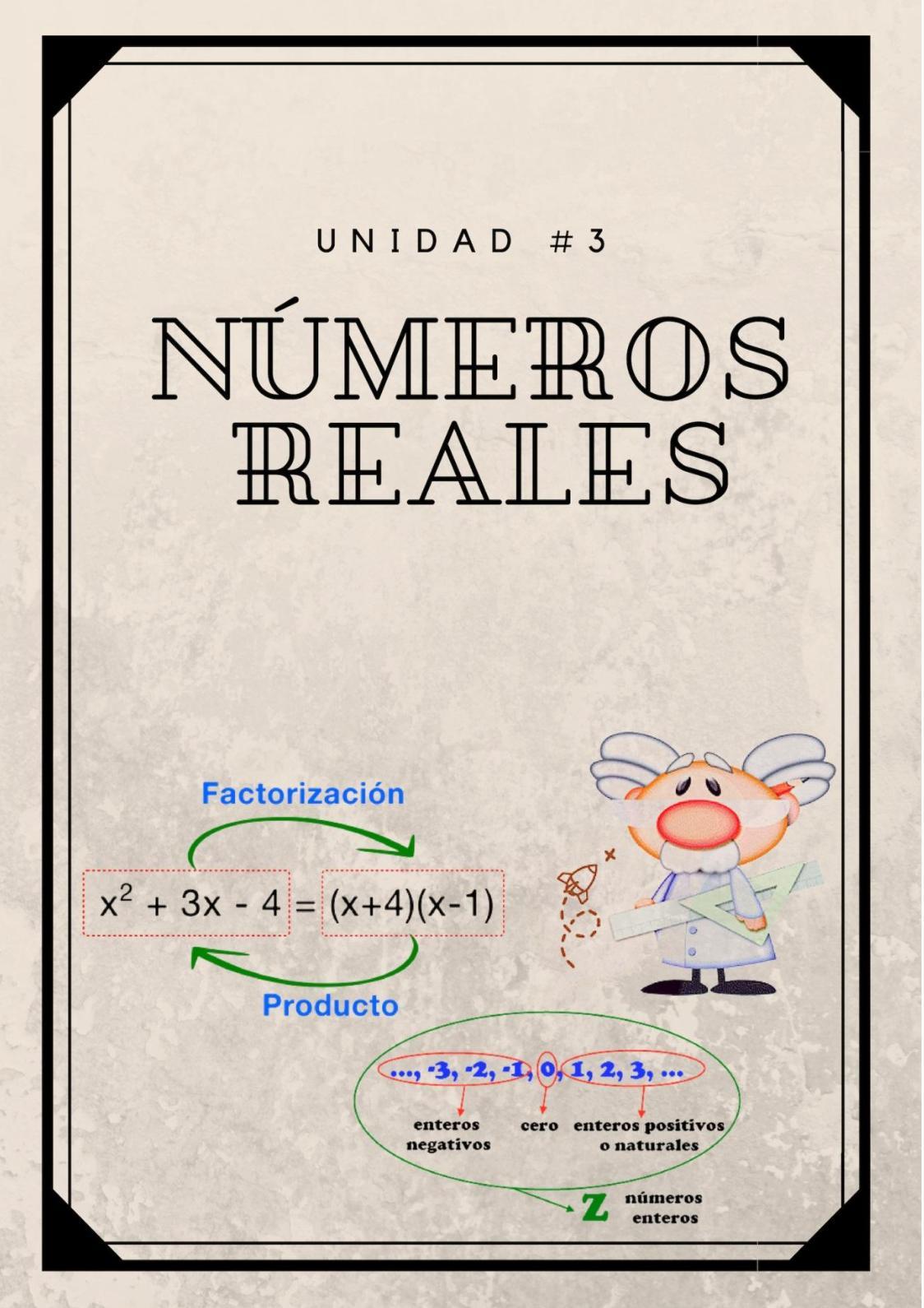 """Libro Digital De Matemática """"Números Reales"""""""