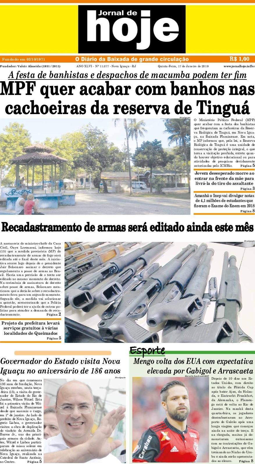 Jornal De Hoje 170119