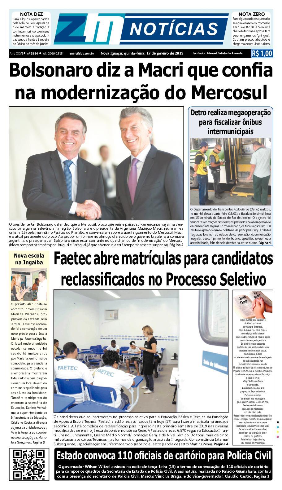 Zm Noticias Edição 170119