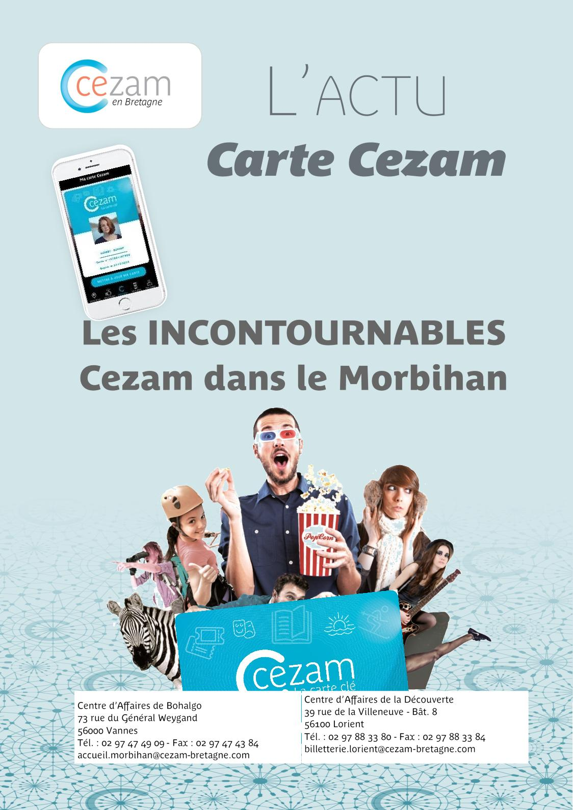 Carte Cezam Bretagne.Calameo Livret Salaries X 20 2019