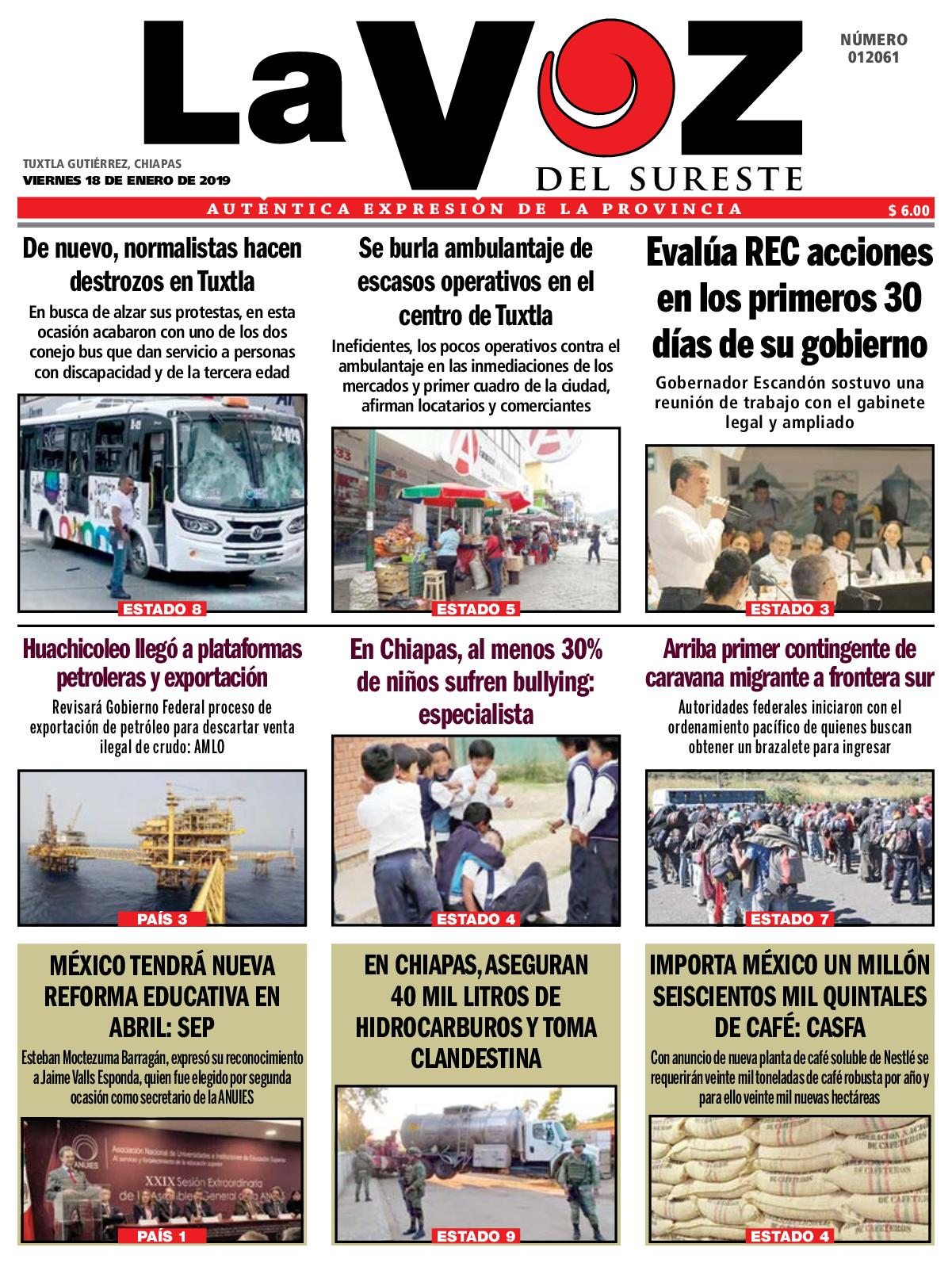 ae04b50dc7c Calaméo - Diario La Voz del Sureste 18-01-2019
