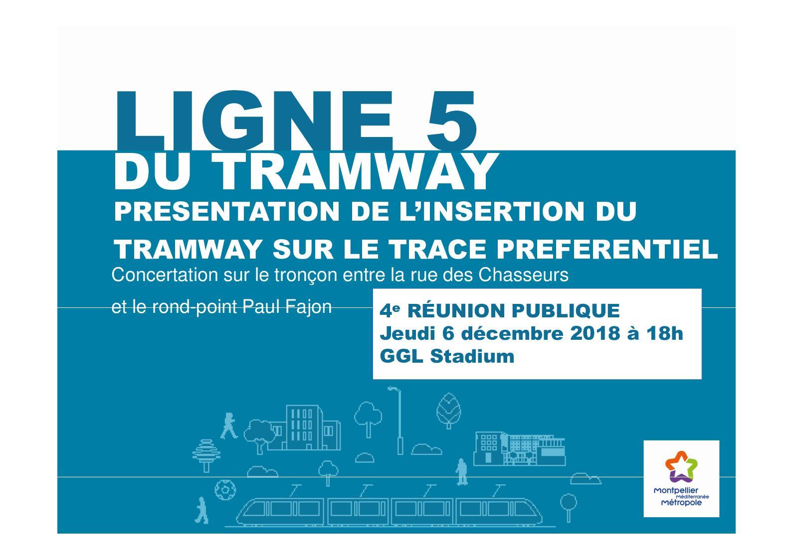 Présentation Réunion Publique Ligne 5 de Tramway | 06.12.2018