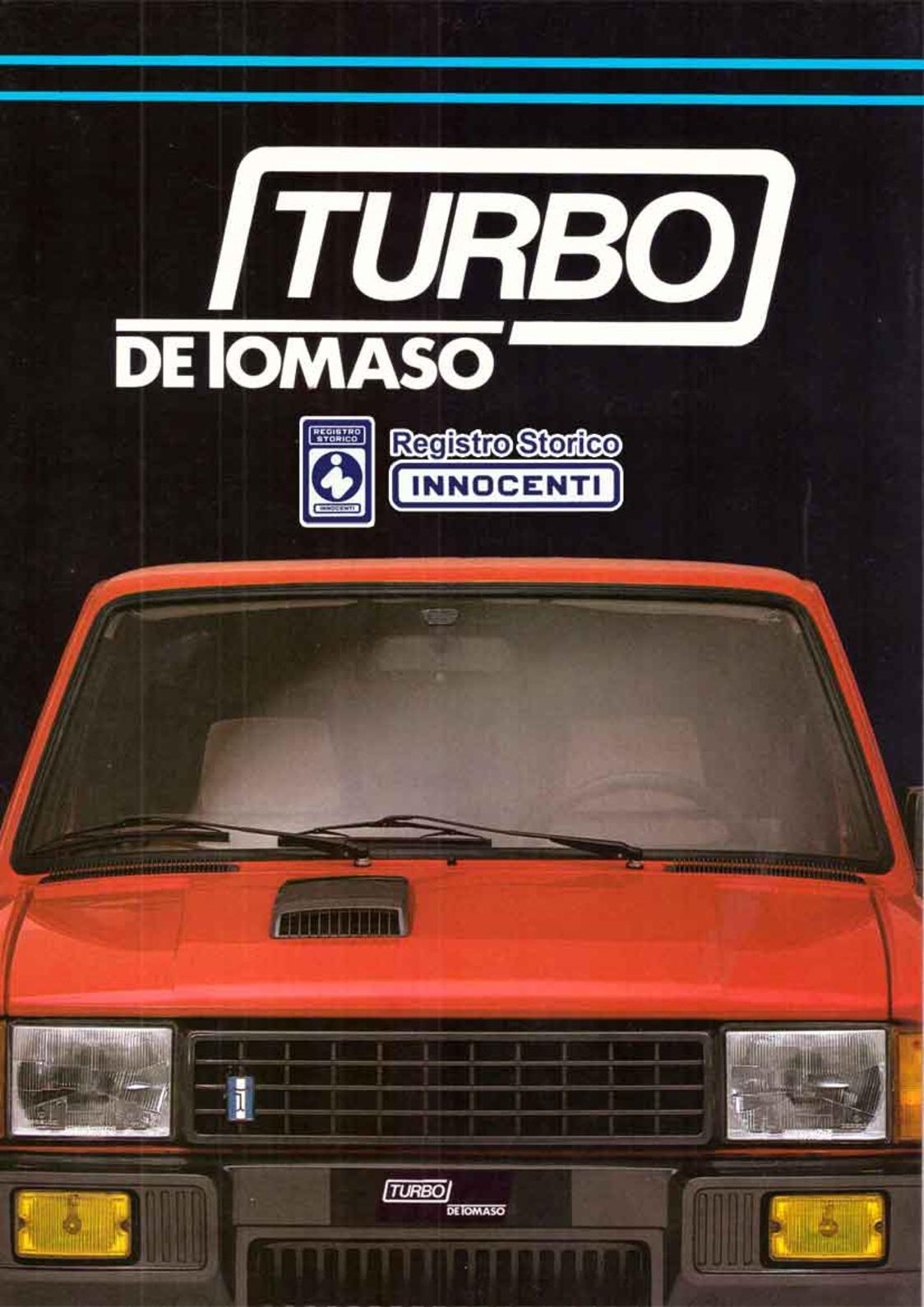1983-- Turbo De Tomaso