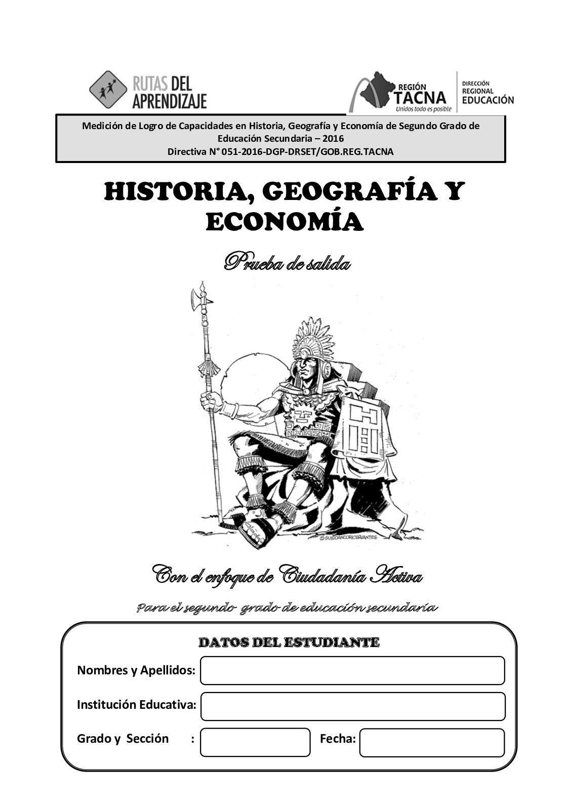 HISTORIA, GEOGRAFÍA Y ECONOMIA