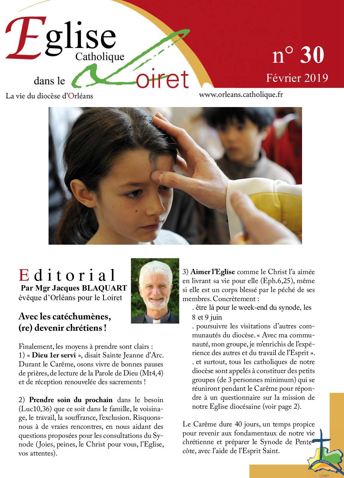 EGLISE DANS LE LOIRET N°30 FEVRIER 2019