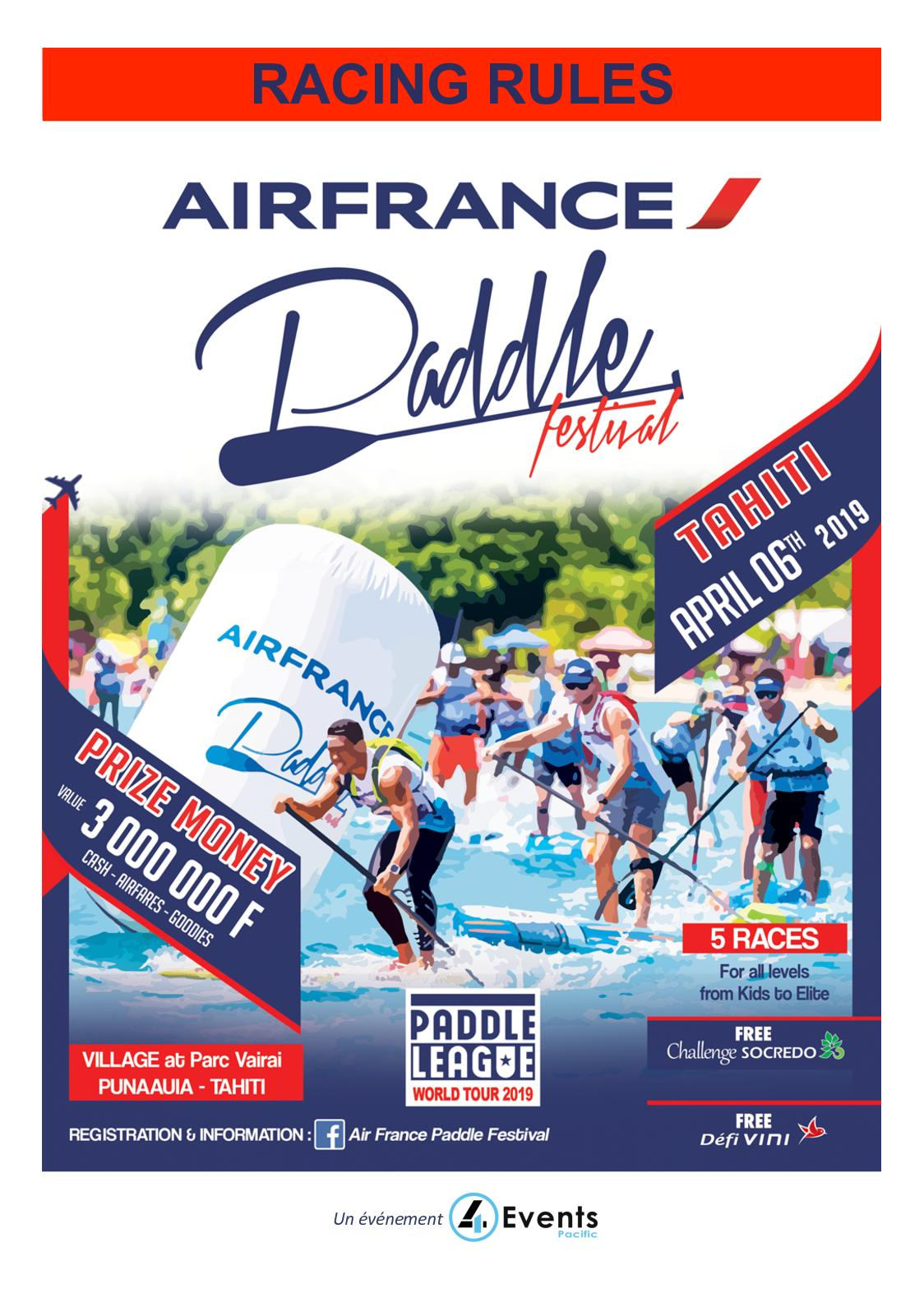 Racing Rules - Air France Paddle Festival 2019