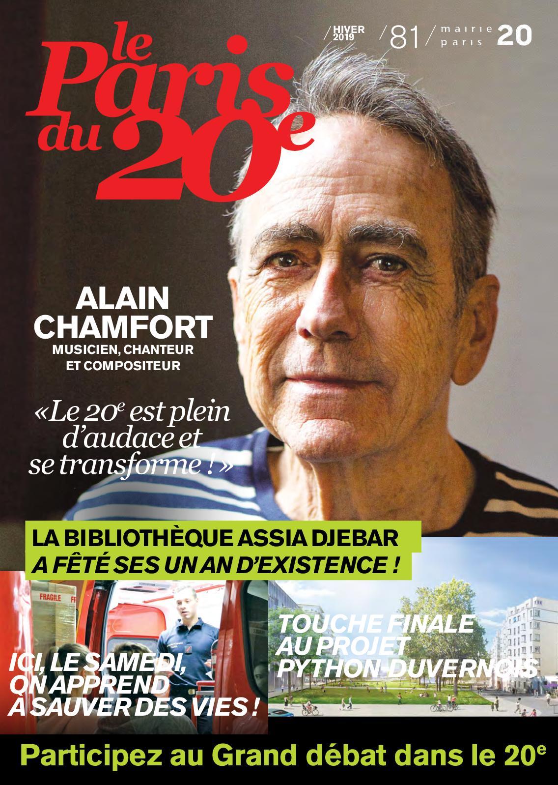 Le Paris du 20e N° 81 (hiver 2019)