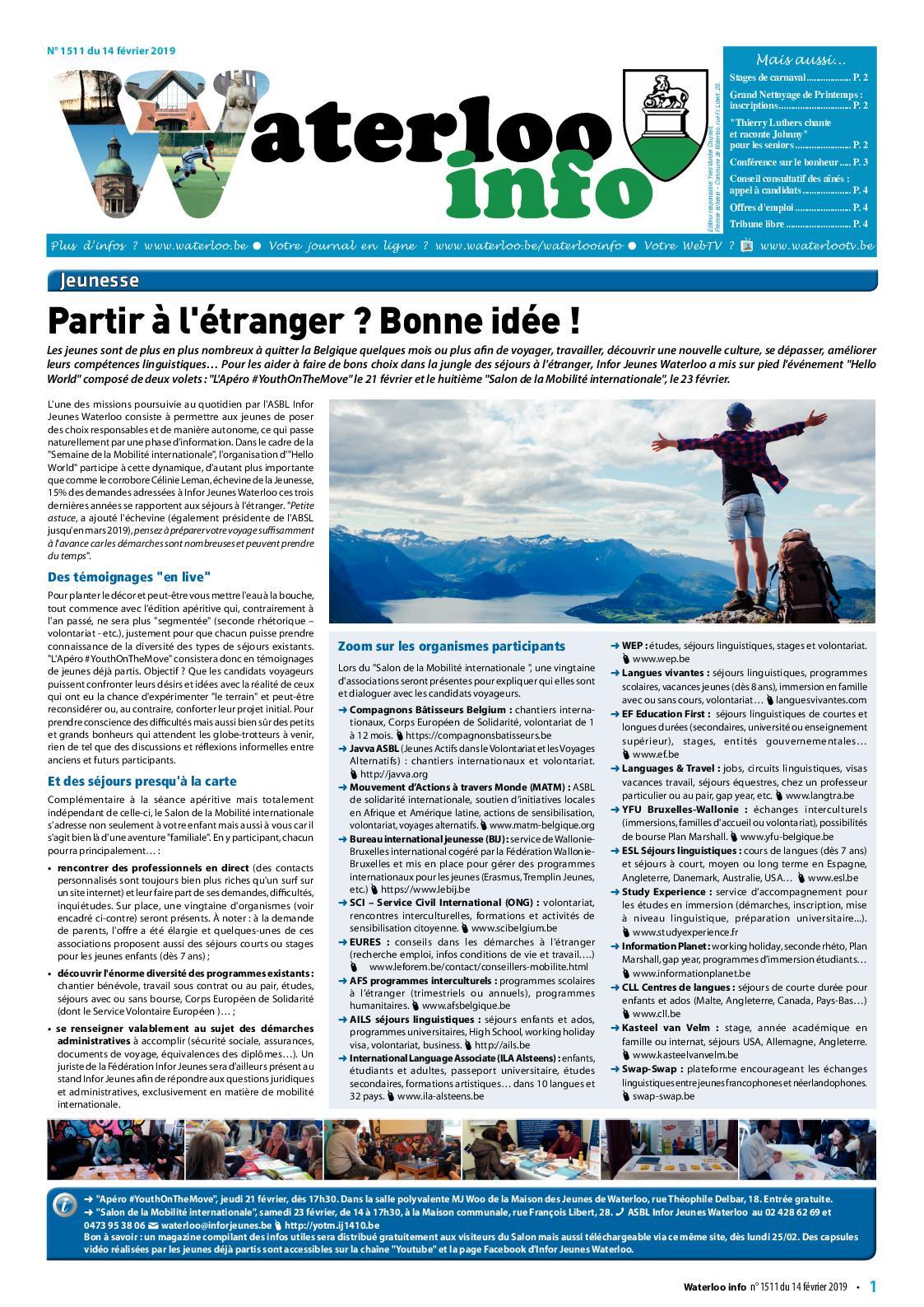 Waterloo Info n°1511 du 14 février
